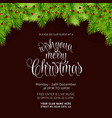 merry christmas bokeh background invitation card vector image