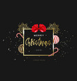 merry christmas design template hand lettering in vector image vector image