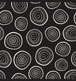 monochrome circles abstract seamless doodle vector image