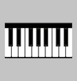 piano keys flat style vector image vector image