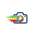 pixel art camera logo icon design vector image