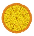 Pizza Cheese Slices vector image