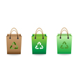 Recyclable bag vector image vector image