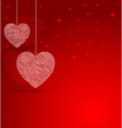 romantic heart with lights effect background vector image vector image