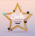 Sale Golden Banner Sale Poster Sale Flyer Sale vector image