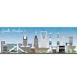 Saudi Arabia Skyline with Landmarks