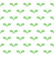 seamless abstract green leaves pattern on white vector image vector image