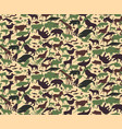 Seamless camouflage pattern with animals for kids