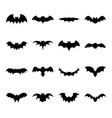 set of bat silhouette flat icon vector image