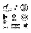 set of dog logo and icons for dog club or shop vector image vector image