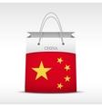 Shopping bag with China flag vector image vector image