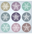 Snowflake winter set icon collection vector image vector image