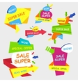 Super Sale shining banner on colorful background vector image vector image
