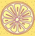 tableware template cute fruit vector image