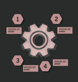 technology background with gear wheel cover vector image