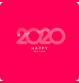 the inscription happy new year 2020 vector image