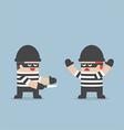 thief betray his friend vector image