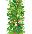 tropical plants seamless vertical border vector image vector image