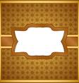 Vintage wooden frame vector image vector image