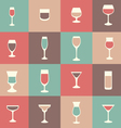 flat icon set drink cocktail vector image