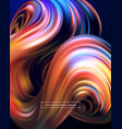 3d abstract colorful fluid design vector image vector image