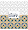 9 eastern background seamless ornament pattern vector image