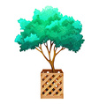A fenced tree vector image vector image