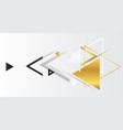 abstract gold geometric background with triangles vector image vector image