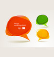 Abstract hand-drawn talking bubbles set vector | Price: 1 Credit (USD $1)