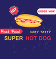 advertising with hot dog vector image vector image