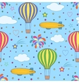 air balloons and airships on the blue sky vector image