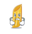 angry penne pasta character cartoon vector image vector image