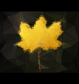 autumn maple leaf - abstract low poly art vector image vector image