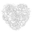beautiful monochrome black and white heart vector image vector image