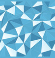 blue 3d triangle pattern seamless design texture vector image vector image