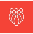 Bowling pins line icon vector image vector image