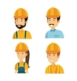 builders group avatars characters vector image vector image