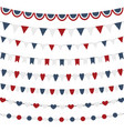 bunting flags set for independence day isolated vector image