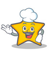 chef star character cartoon style vector image vector image
