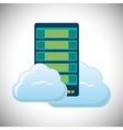cloud hosting data center icon vector image vector image