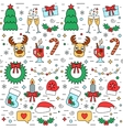 Colorful Christmas and New Year holiday seamless vector image