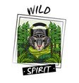 cool wild animal print for t shirt vector image vector image