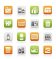 different kind of package icons vector image vector image