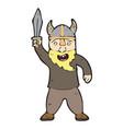 digitally drawn viking character design hand vector image