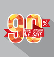 Discount 90 Percent Off vector image vector image