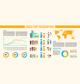 education infographics banner with data analysis vector image