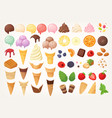 elements to create your own ice cream vector image vector image