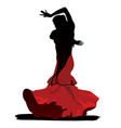flamenco dance on white background vector image vector image