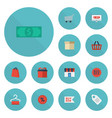 flat icons cash shopping buy now and other vector image vector image
