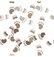 footprint paws of a bear vector image vector image